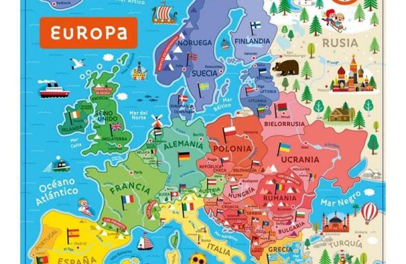 MAPA DE EUROPA MAGNÉTICO